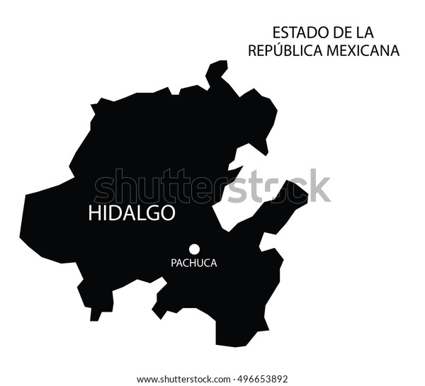Estado De Hidalgo Mexico Vector Map Stock Vector Royalty Free
