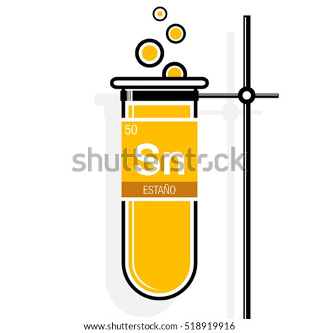 Estano Symbol Tin Spanish Language On Stock Vector Royalty Free