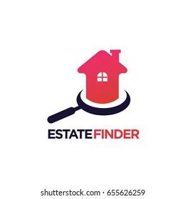 Estate Finder Logo template Design