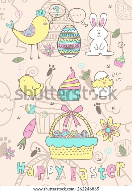 Ester Story Fun Color Stock Vector (Royalty Free) 262246865