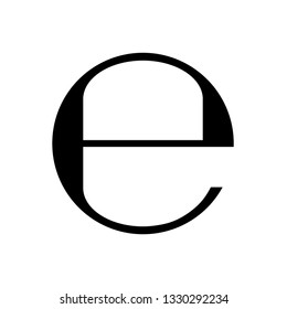 Estimated sign, E mark symbol