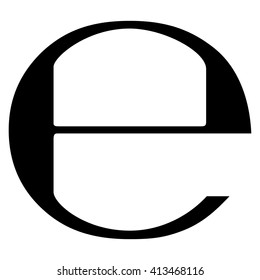 Estimated sign , e mark , e symbol , vector illustration