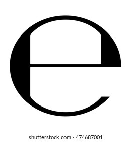 Estimated sign of E mark symbol