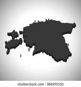 Estonia - 3D map