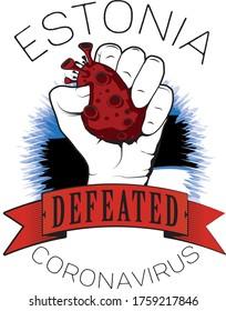 estonia europe defeated coronavirus vector cool image printable color flag