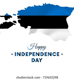 Estonia Independence day. Estonia map. Vector illustration.