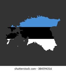 Estonia - map and flag