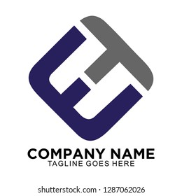 ET logo for business company