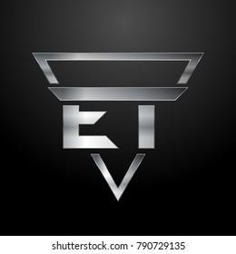 ET Logo, Monogram, Metal