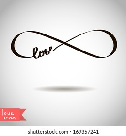 Eternal love icon valentines day vector symbol