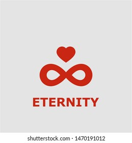 Eternity symbol. Outline eternity icon. Eternity vector illustration for graphic art.