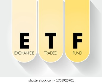 ETF - Exchange Traded Fund acronym, business concept background
