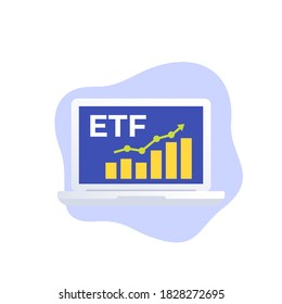 ETF icon, exchange traded fund vector