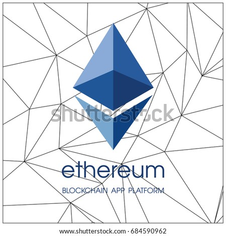 Ethereum Cripto Currency Chrystal Icon Blockchain Platform Logo Sign Classic Currencies