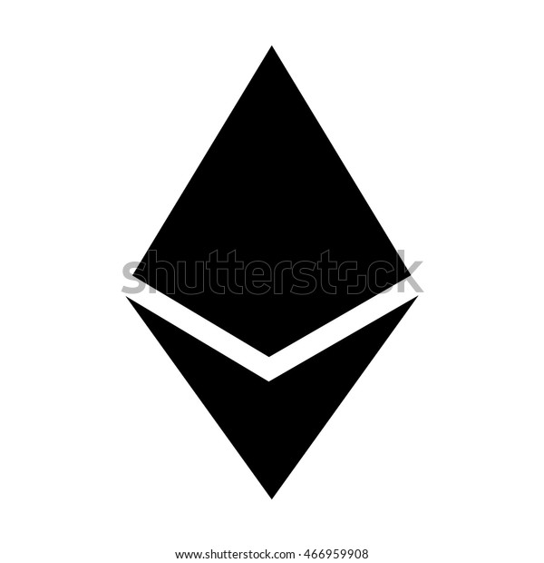 Ethereum Crystal Ether Cryptocurrency Flat Vector Stock