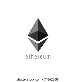 Ethereum Symbol Vector Icon , Illustration, Eps File