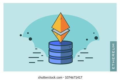 Ethereum vector illustration