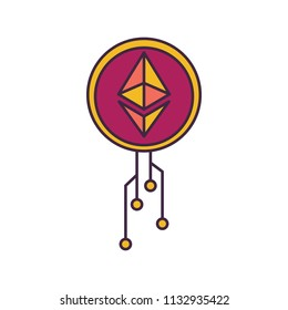 Etherium icon. Cartoon illustration of Etherium vector icon for web and advertising