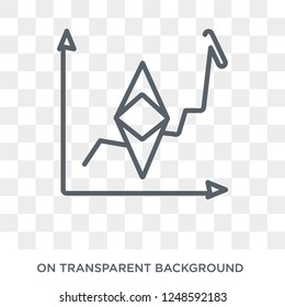 etherium icon. Trendy flat vector etherium icon on transparent background from Cryptocurrency economy and finance collection. High quality filled etherium symbol use for web and mobile