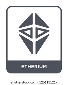 etherium icon vector on white background, etherium trendy filled icons from Cryptocurrency economy and finance collection, etherium simple element illustration