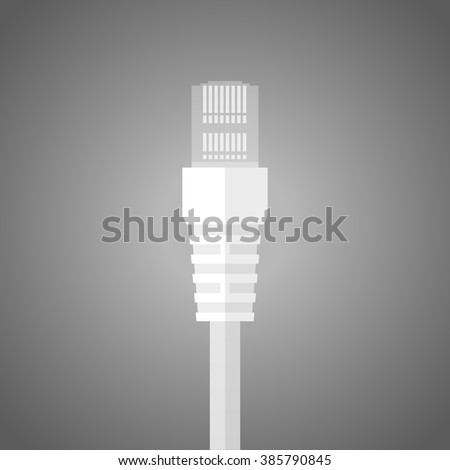 Admirable Ethernet Network Cable Plug Wire Cable Stock Vector Royalty Free Wiring Digital Resources Arguphilshebarightsorg