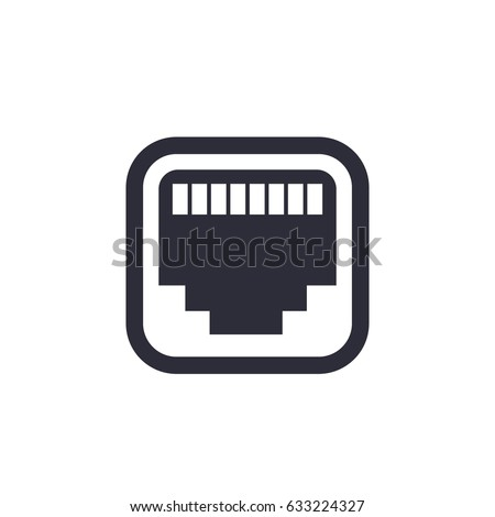 Ethernet Network Port Icon Stock Vector Royalty Free 633224327