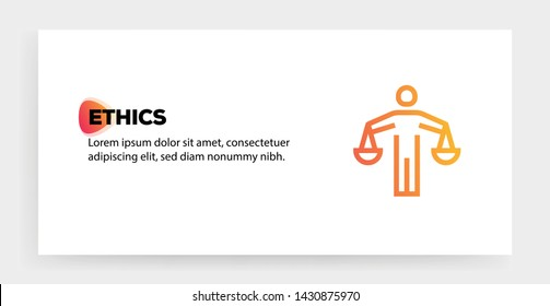 ETHICS AND ILLUSTRATION ICON CONCEPT