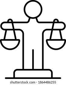 Ethics vector icon. Law icon. Justice symbol. Vector illustration