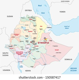 ethiopia administrative map
