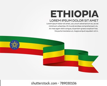 Ethiopia flag background
