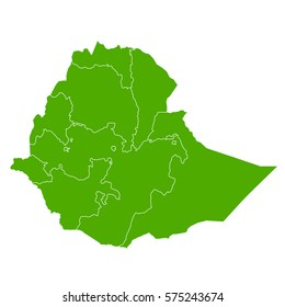ethiopia green map