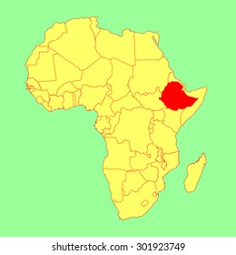 Ethiopia Map Images, Stock Photos & Vectors   Shutterstock