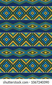 Ethnic African pattern. Geometric design of cloth.
