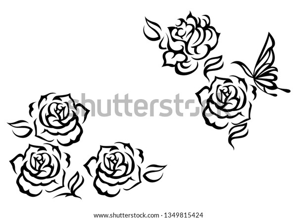 Ethnic Artwork Butterfly Rose Tattoo Tribal Stock Vector Royalty Free 1349815424,Electrical Control Panel Design Calculations
