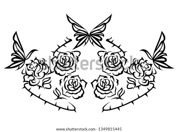 Ethnic Artwork Butterfly Rose Tattoo Tribal Stock Vector Royalty Free 1349815445,Electrical Control Panel Design Calculations