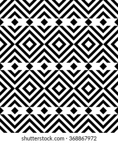 Ethnic background. Abstract monochrome seamless pattern. Allover abstract texture. black and white print.
