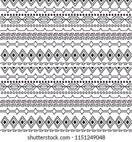 ethnic background geometric lines on a white background