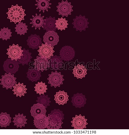 Ethnic Background Simple Mandala Patterns Orient Stock Vector
