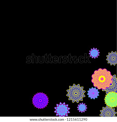 Ethnic Background Simple Mandalas Lacy Round Stock Vector (Royalty