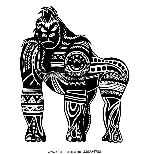 819d122c76b43 Ethnic Black Gorilla Silhouette African Totem Stock Vector (Royalty ...