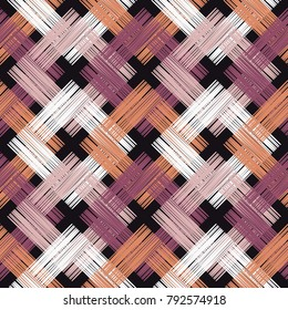 Ethnic boho seamless pattern. Asian Mat. Scribble texture. Folk motif. Textile rapport.