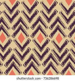Ethnic boho seamless pattern. Ikat. Repeating background as carpet, cloth, curtain, textile design, wallpaper, surface texture background