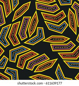 Ethnic boho seamless pattern. Molas. Print. Repeating background. Cloth design, wallpaper.