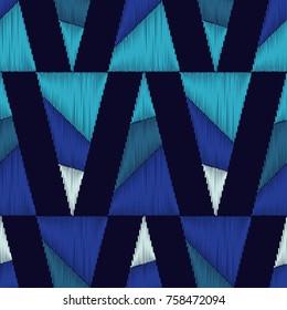 Ethnic boho seamless pattern. Scribble texture. Retro motif. Textile rapport.
