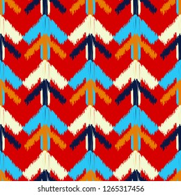 Ethnic boho seamless pattern. The shapes of the arrows with shading. Traditional ornament. Tribal pattern. Folk motif. Can be used for wallpaper, textile, invitation card, web page background.