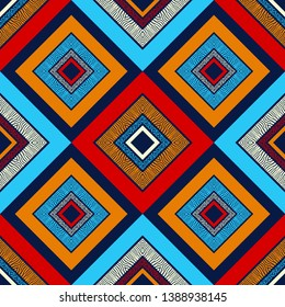 Ethnic boho seamless pattern. Texture with Zebra and Leopard spots. Patchwork texture. Weaving. Traditional ornament. Tribal pattern. Folk motif. Can be used for wallpaper, textile, invitation card.