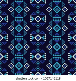 Ethnic boho seamless pattern. Traditional ornament. Geometric background. Tribal pattern. Folk motif. Textile rapport.