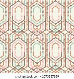 Ethnic boho seamless pattern. Traditional ornament. Geometric background. Folk motif. Textile rapport.