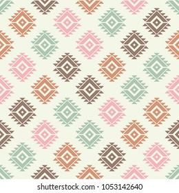 Ethnic boho seamless pattern. Tribal pattern. Folk motif. Textile rapport.