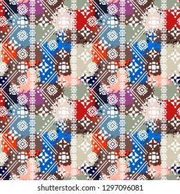 Ethnic boho seamless pattern. Tribal art print. Folk repeating pattern. Background, ethno texture. Fabric design